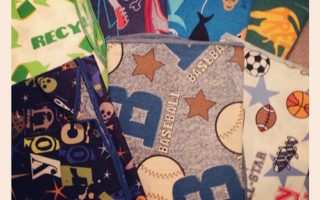 New find – reusable napkins for kid's lunches