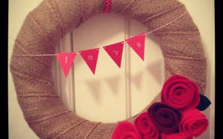 Valentine's Day Wreath { i made it! }