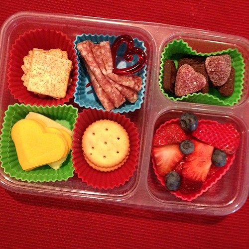 Valentines Day lunch homemade lunchable