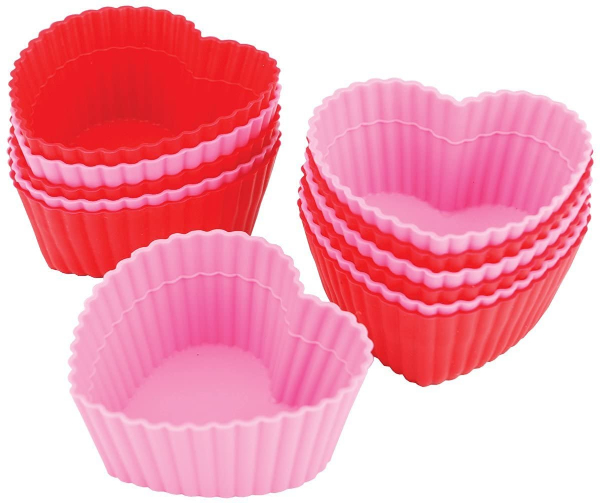 heart shaped silicone cups