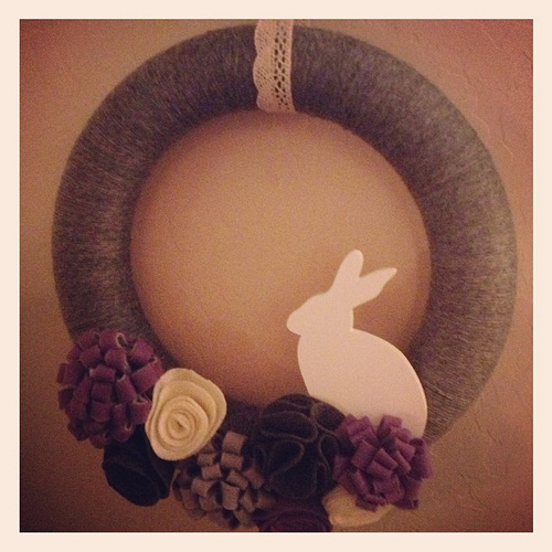 Easter Wreath { i made it! }