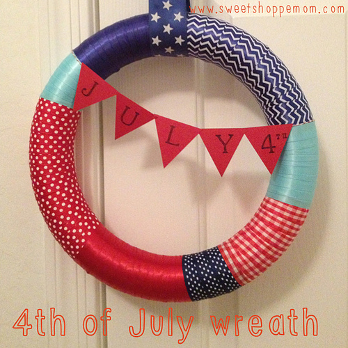 Fourth of July Ribbon Wrapped Wreath Tutorial