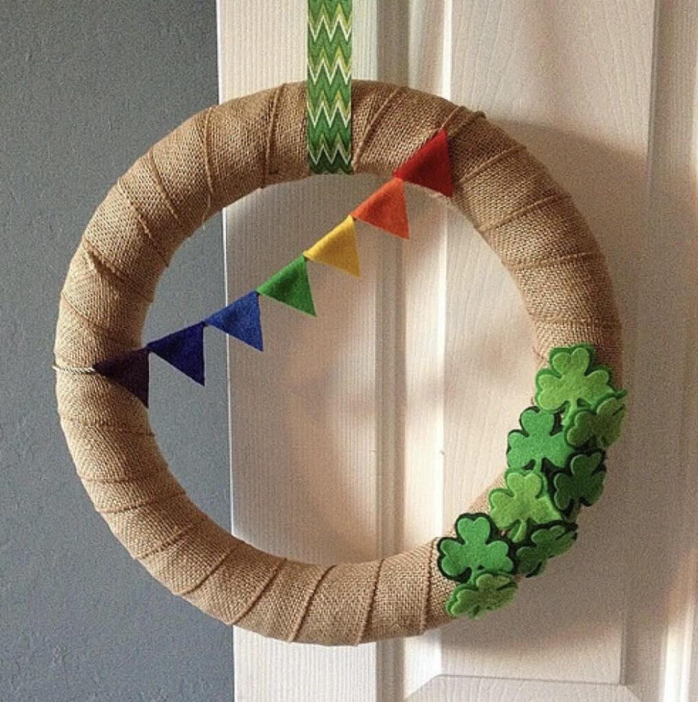 St. Patricks Day Wreath DIY