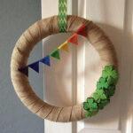 St. Patrick's Day Wreath DIY plus a Leprechaun Visit