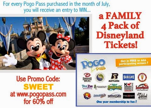 Pogo Passes – win four tickets to Disneyland!