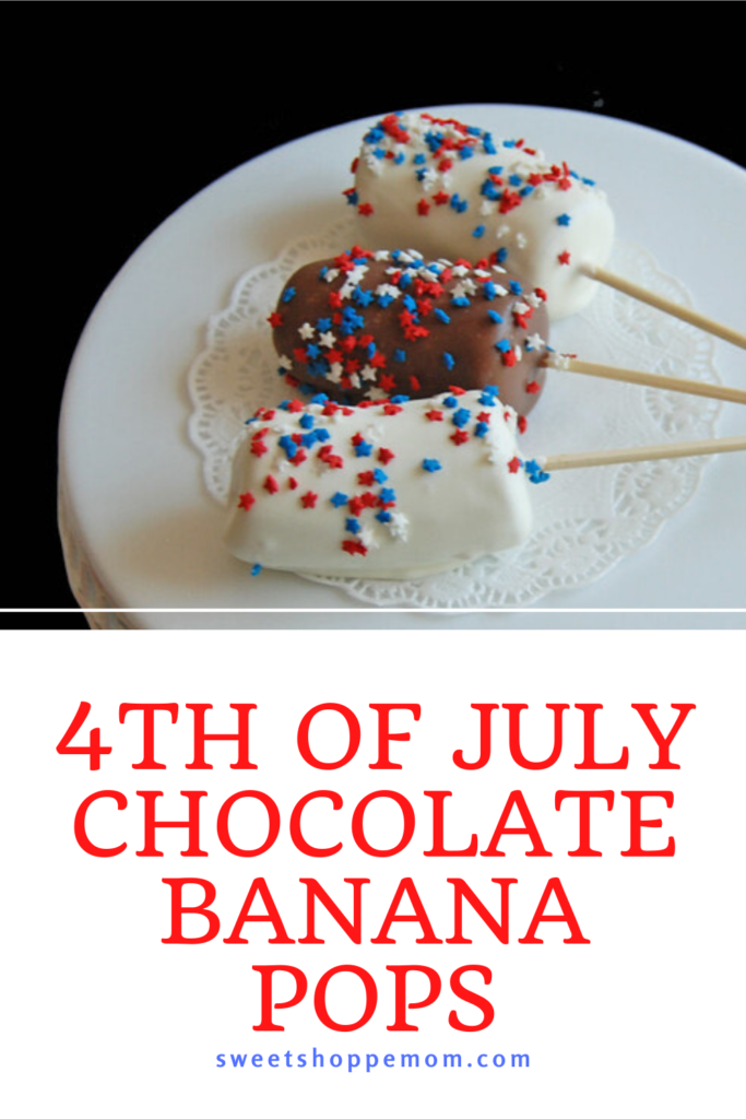 4th of July Chocolate Banana Pops