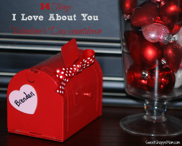 14 Things I Love About You Valentine's Day Countdown For Kids