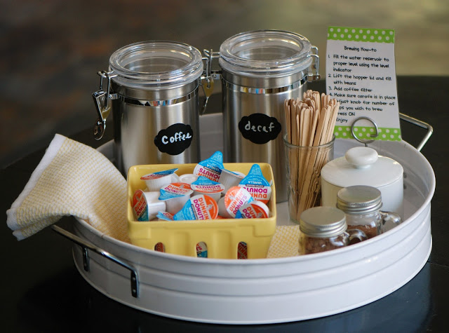 Create a Welcoming Coffee Station for Guests