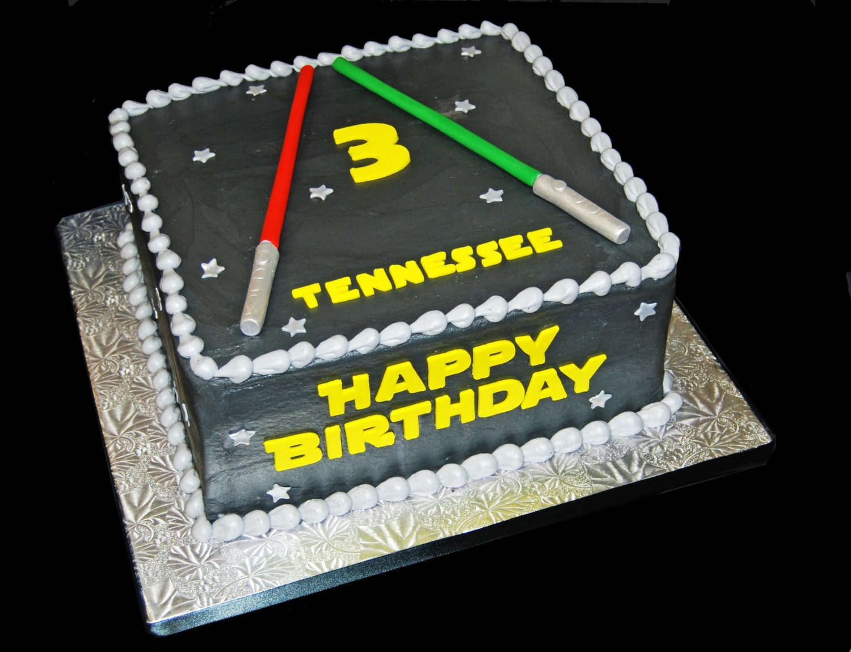 3rd Birthday Star Wars Inspired Cake