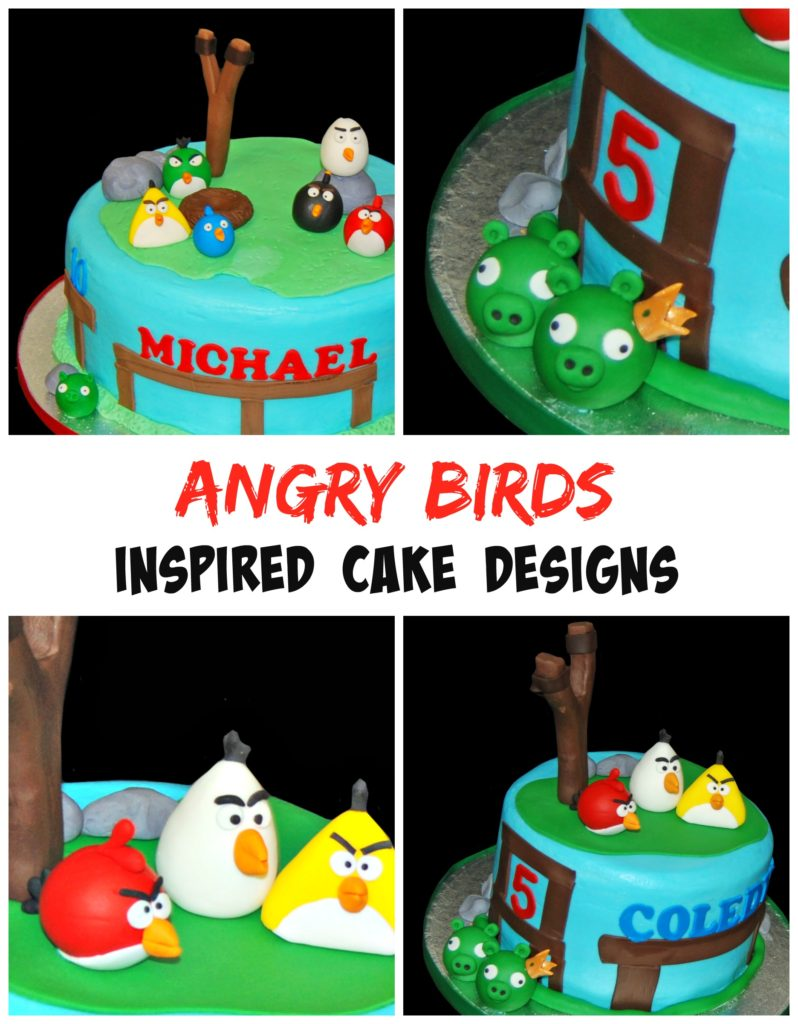 Angry birds birthday cake designs