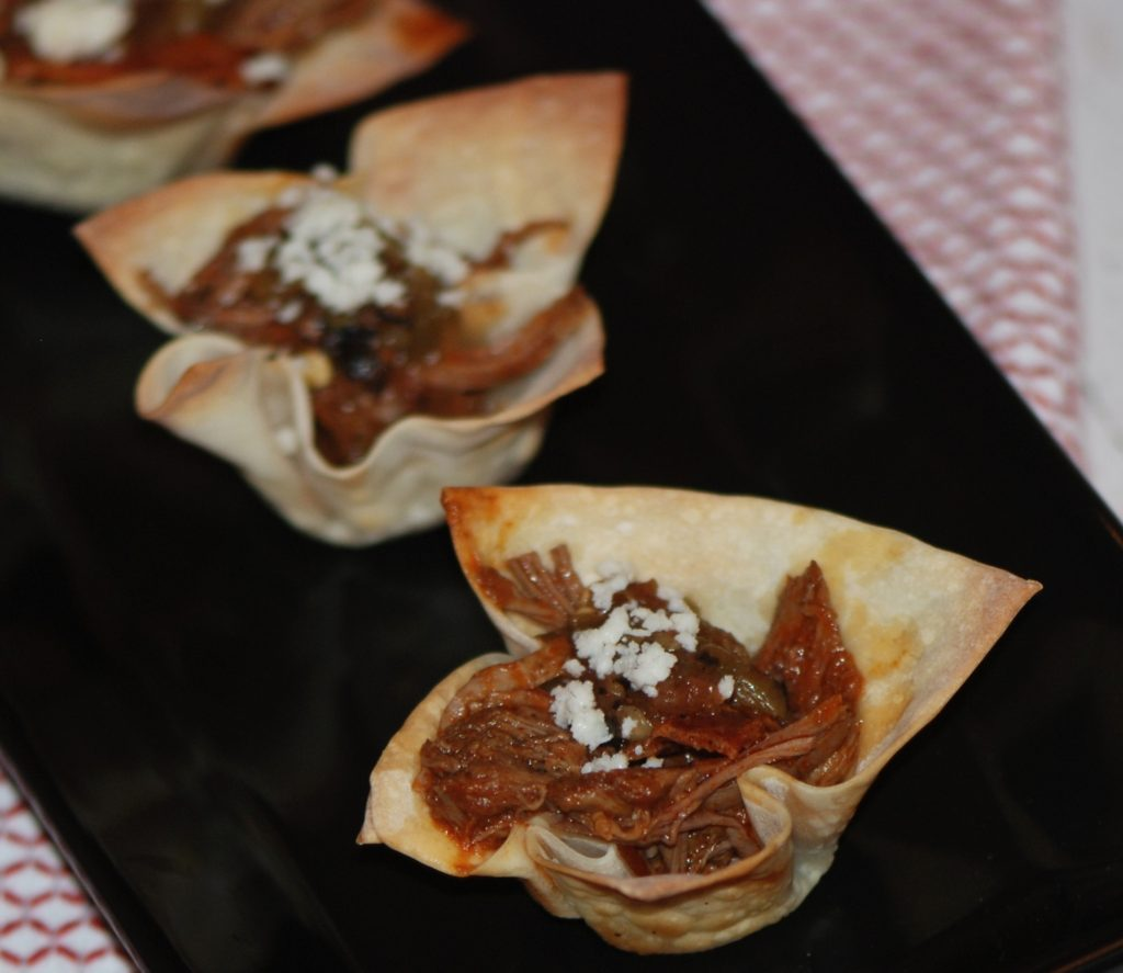 Bacon Barbacoa Cups appetizer
