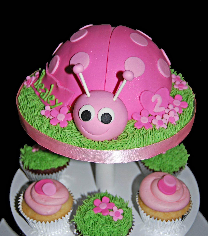 Ladybug Cupcake Tower