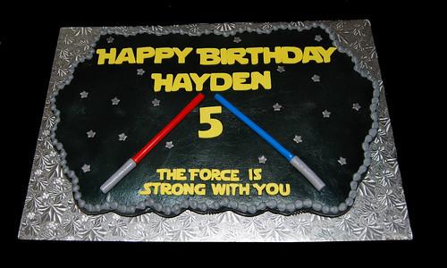Star Wars Birthday Cupcake Cake