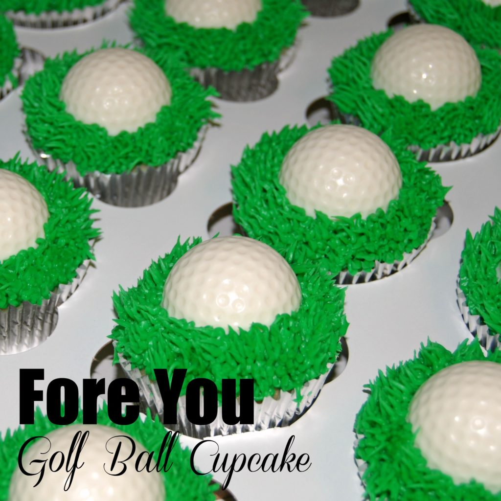 Fore You Golf Ball Cupcake