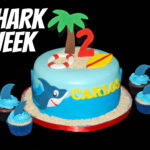 Shark Week Cake Inspiration: Shark Cake and Cupcakes