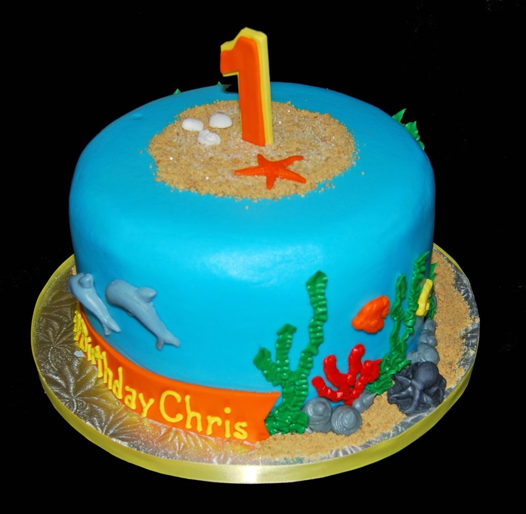 under the sea birthday cake dory