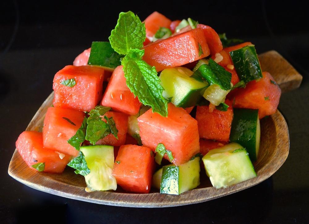 A Virtual Vegan Watermelon Minted Salad
