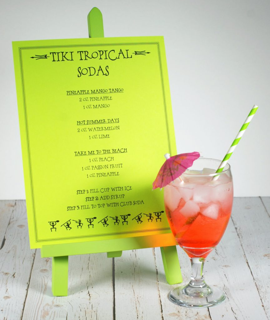 tropical mocktails