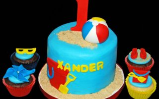 Beach Inspired Cakes and Cupcakes
