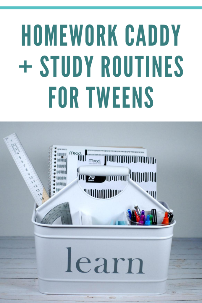 How to Create a Homework Caddy