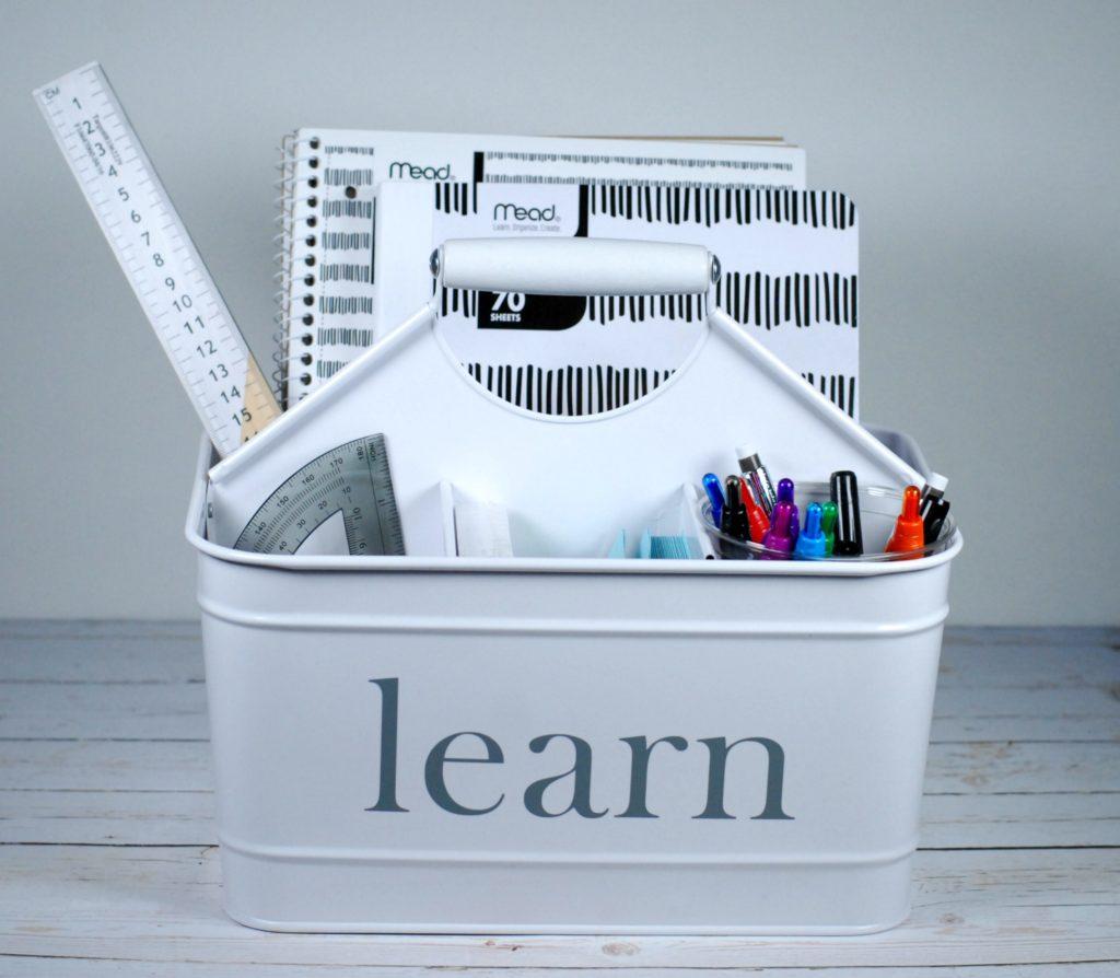 Study Routines For Tweens + Portable Homework Station DIY