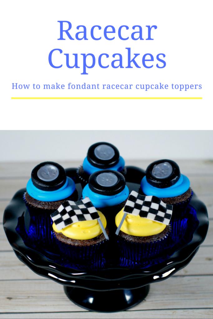 Fondant Racecar Cupcake Toppers