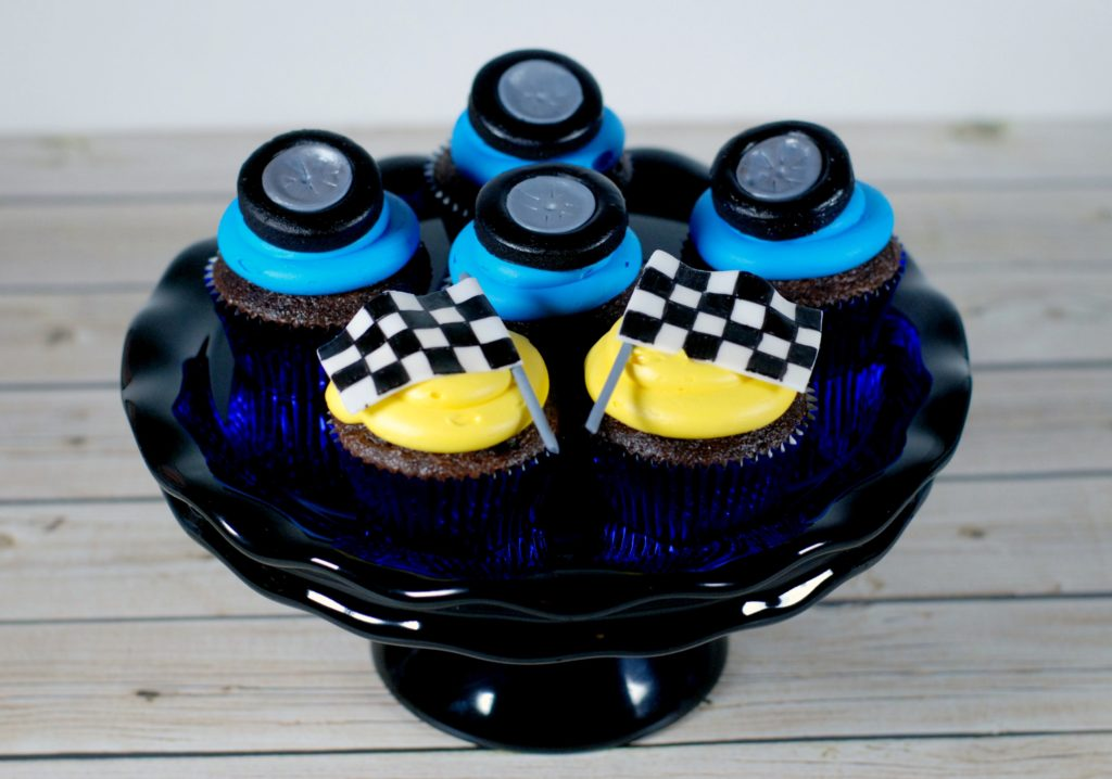 Race Car Themed Cupcake Toppers