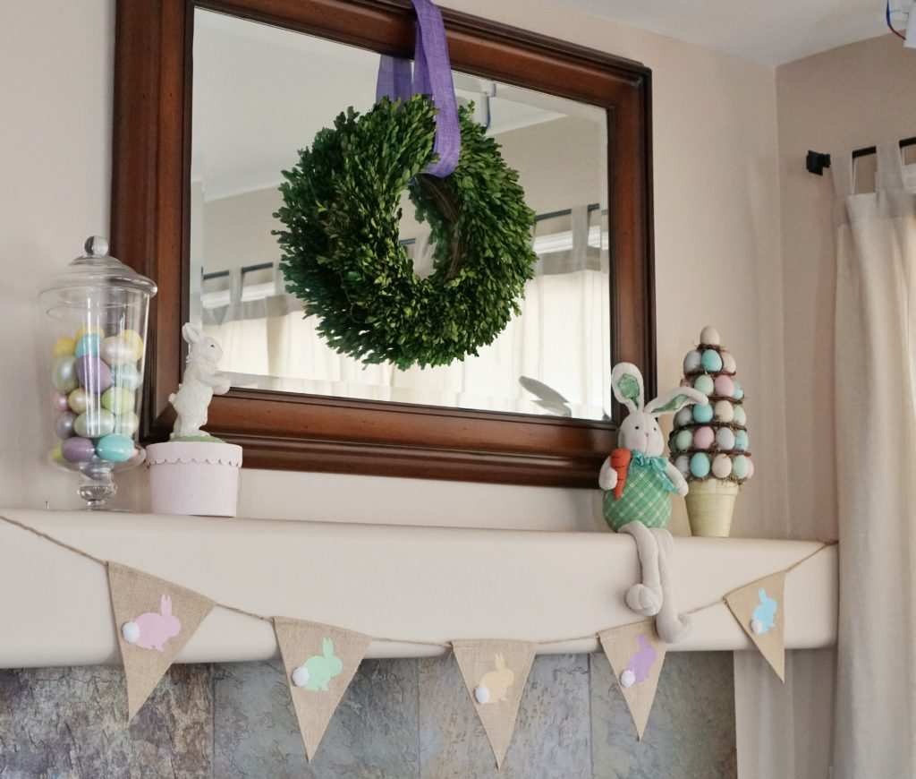 Easter mantel bunny banner