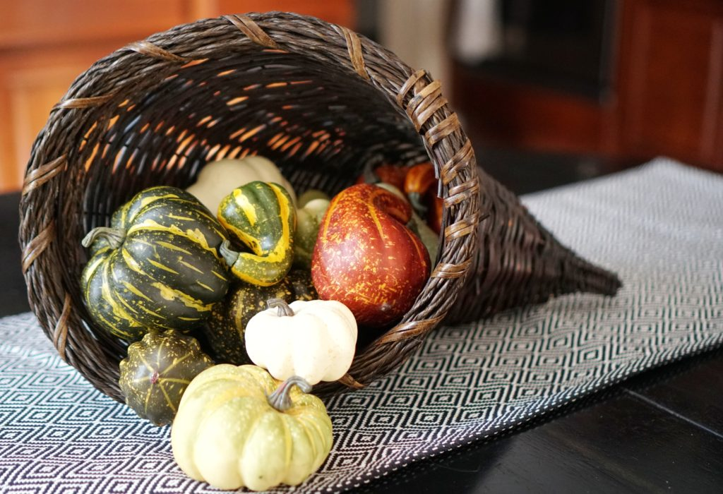 Fall decor update cornucopia