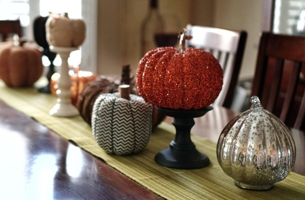 Fall decor dining table centerpiece