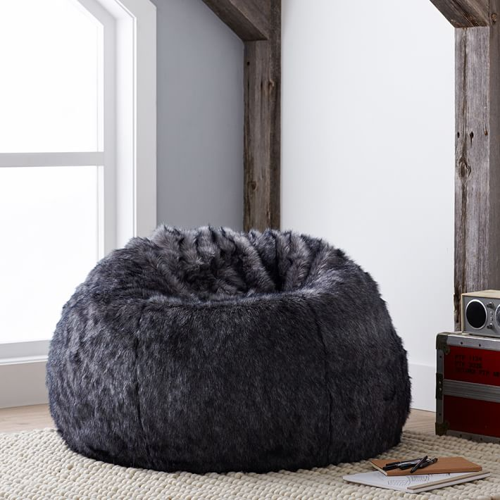 Faux Fur Bean Bag Chair Tween Boy Holiday Gift Guide