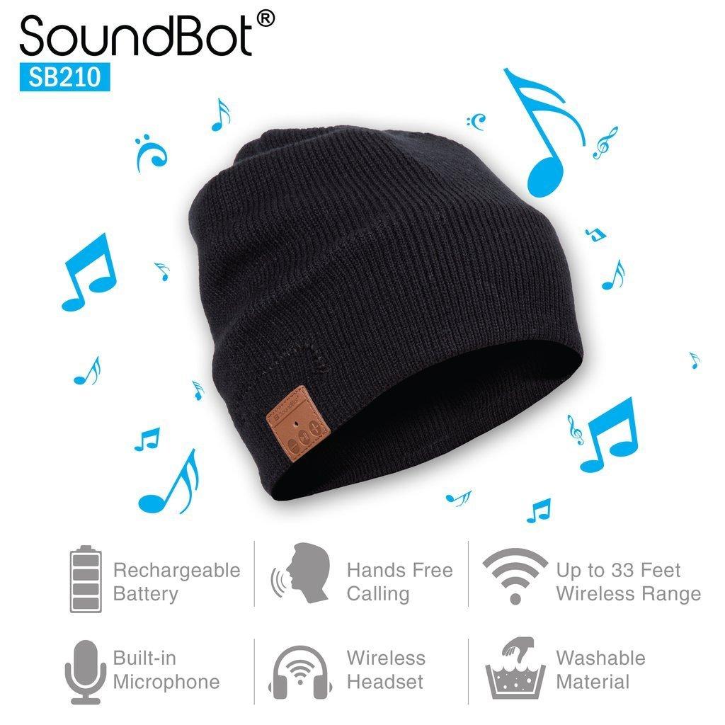 Soundbot bluetooth beanie holiday tween boy gift guide