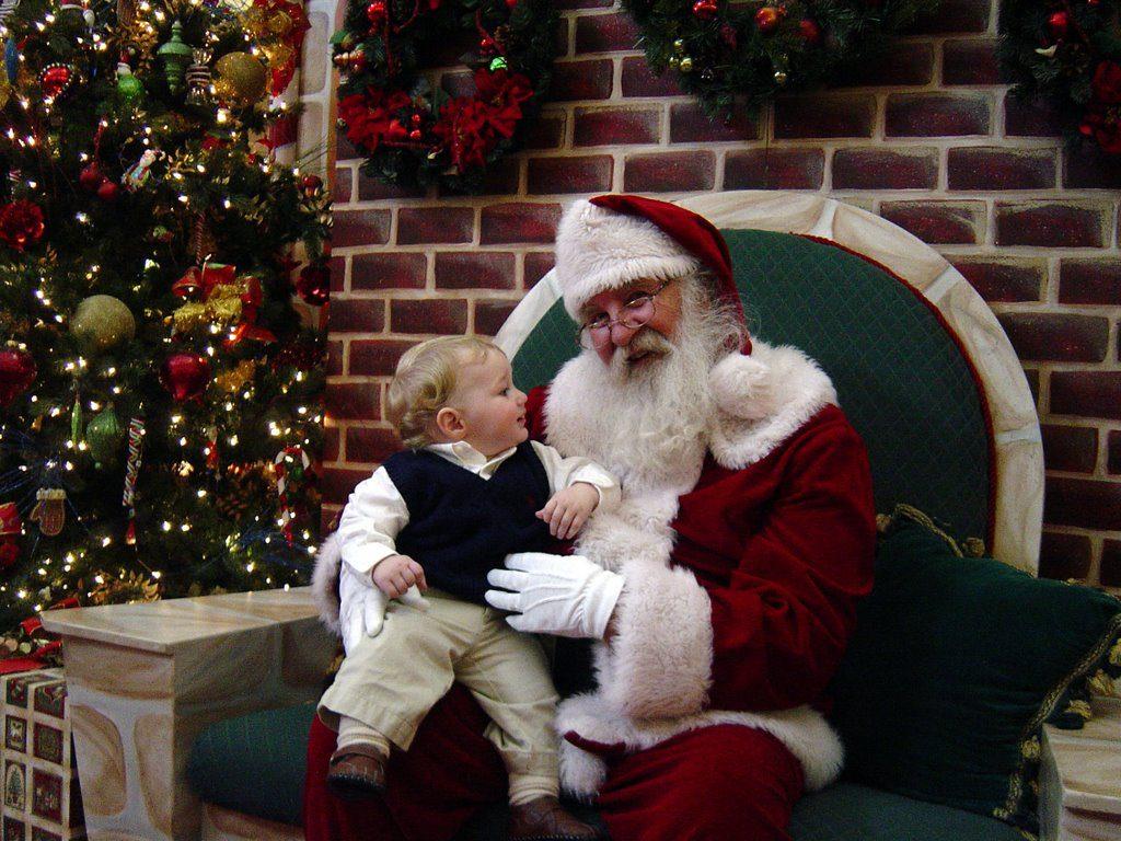 baby's first santa visit