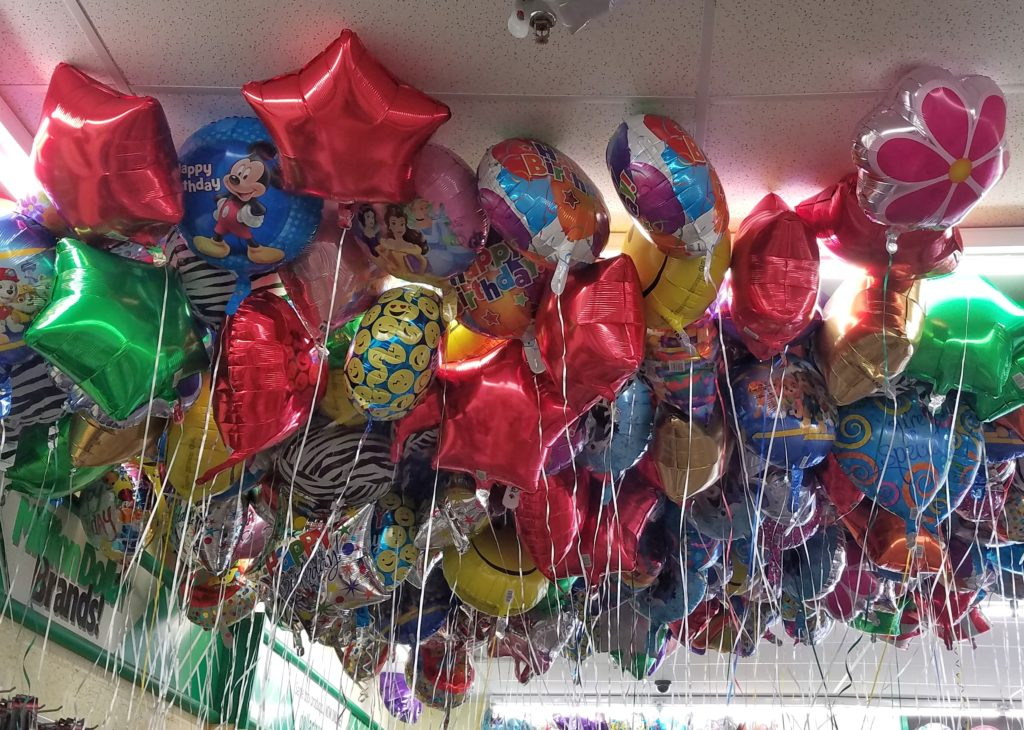 dollar store finds mylar balloons