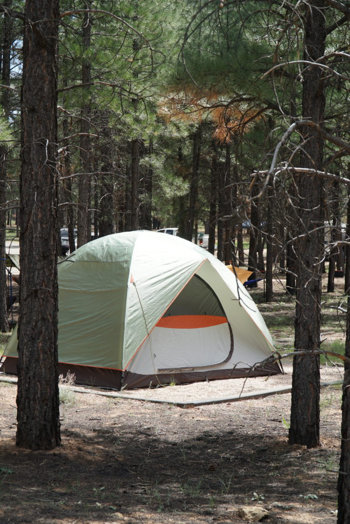 Create a travel bucket list tent camping