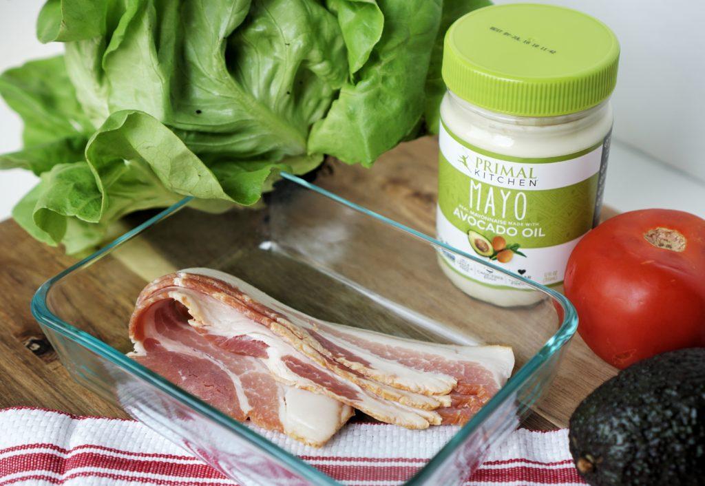 Keto Avocado BLT wraps ingredients