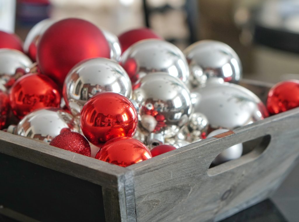 Christmas home tour ornaments