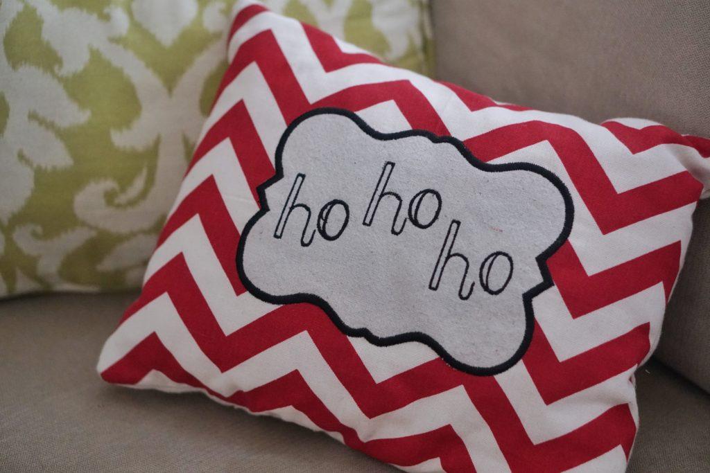 Holiday home tour Christmas pillows