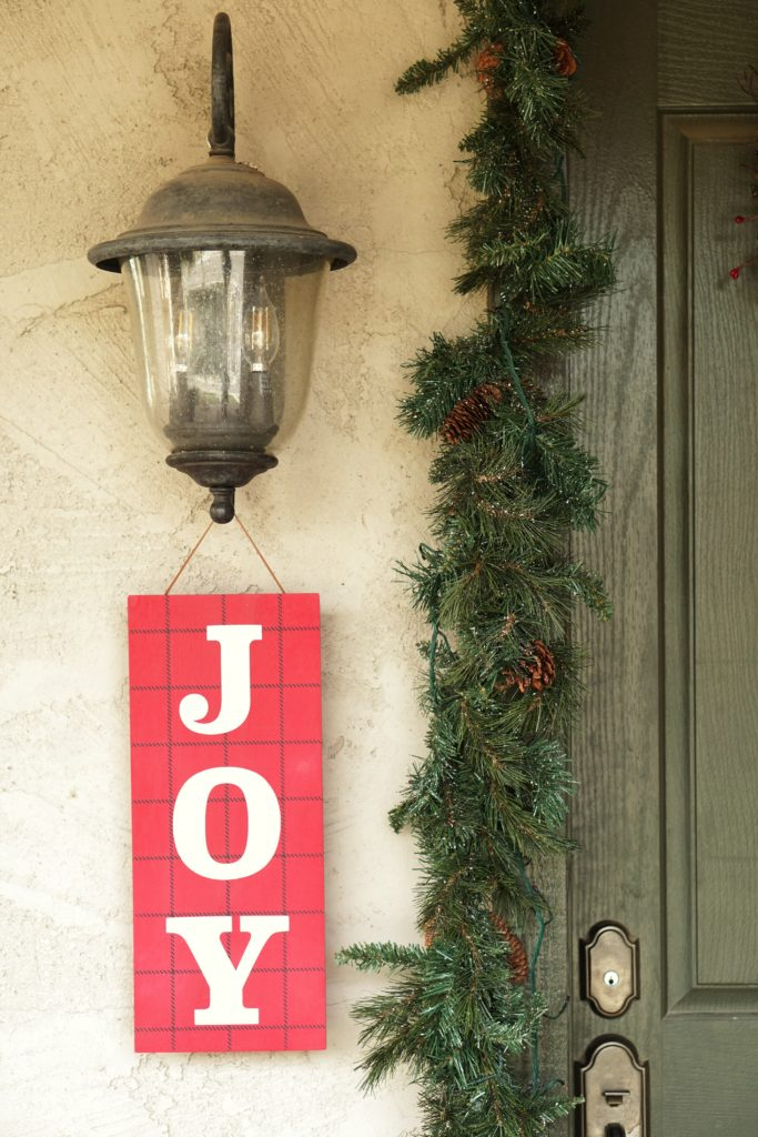 Christmas home tour front door decor