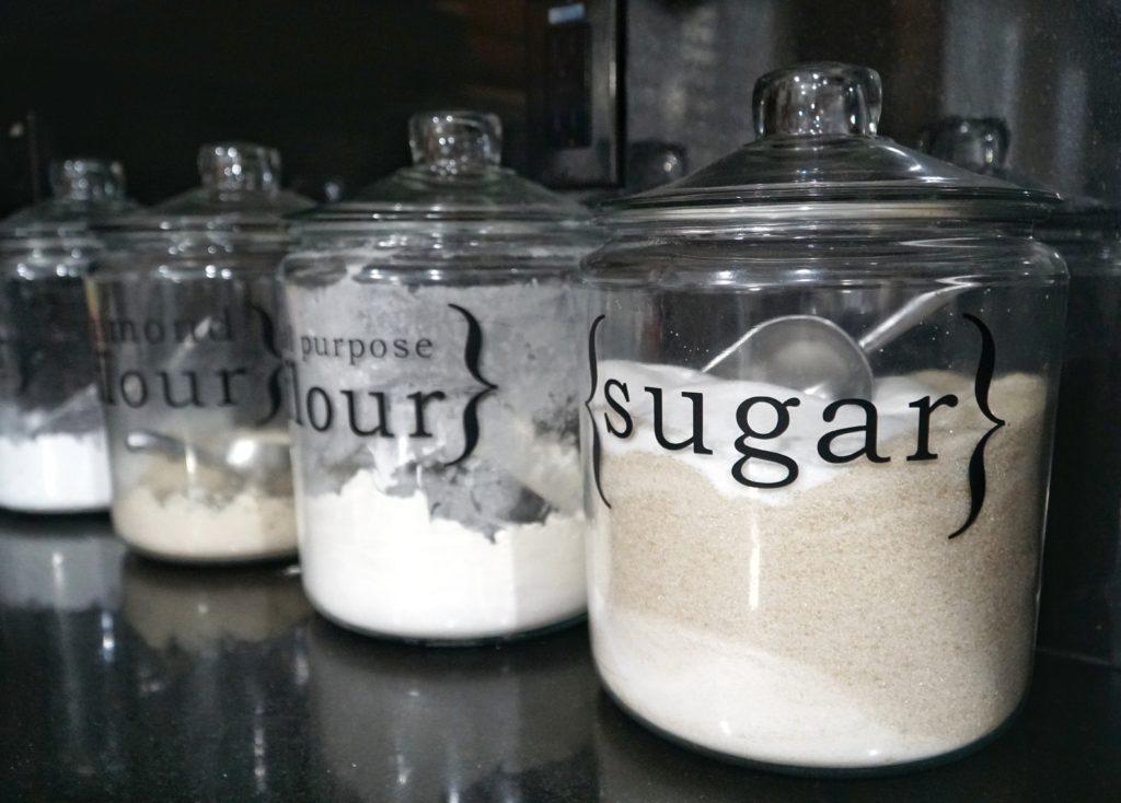 Flour and Sugar jar vinyl labels