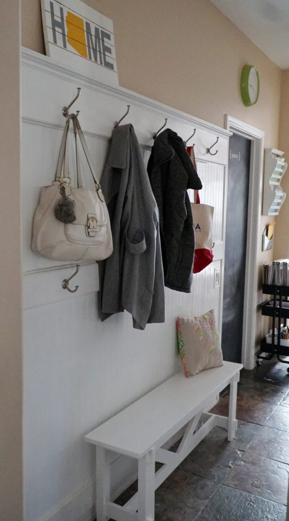 DIY mudroom reveal