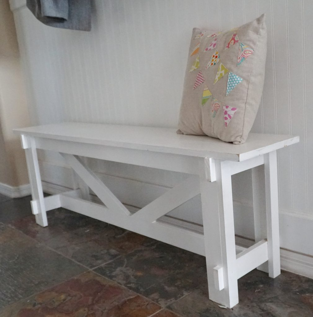 Mud room DIY bench