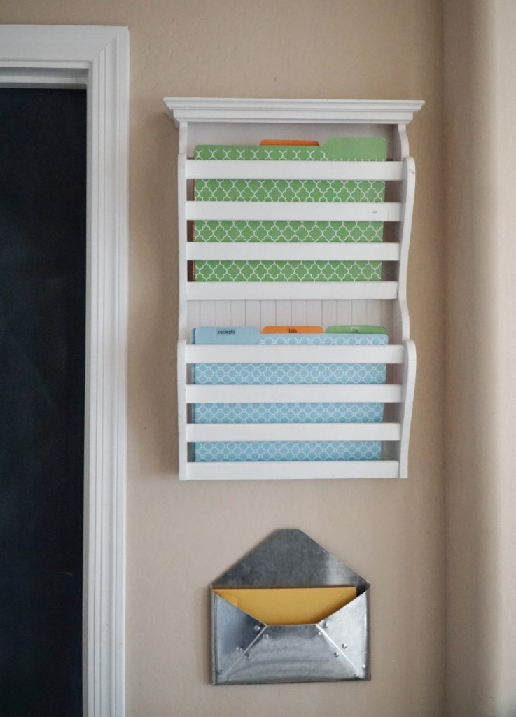 DIY mudroom mail center