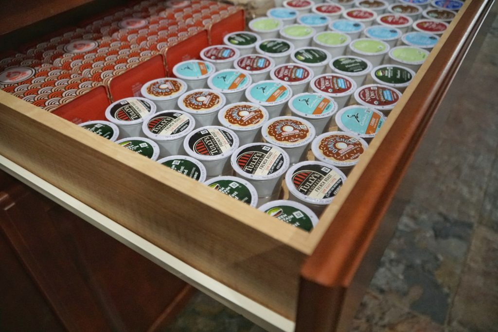 coffee and tea k-cup drawer organizer