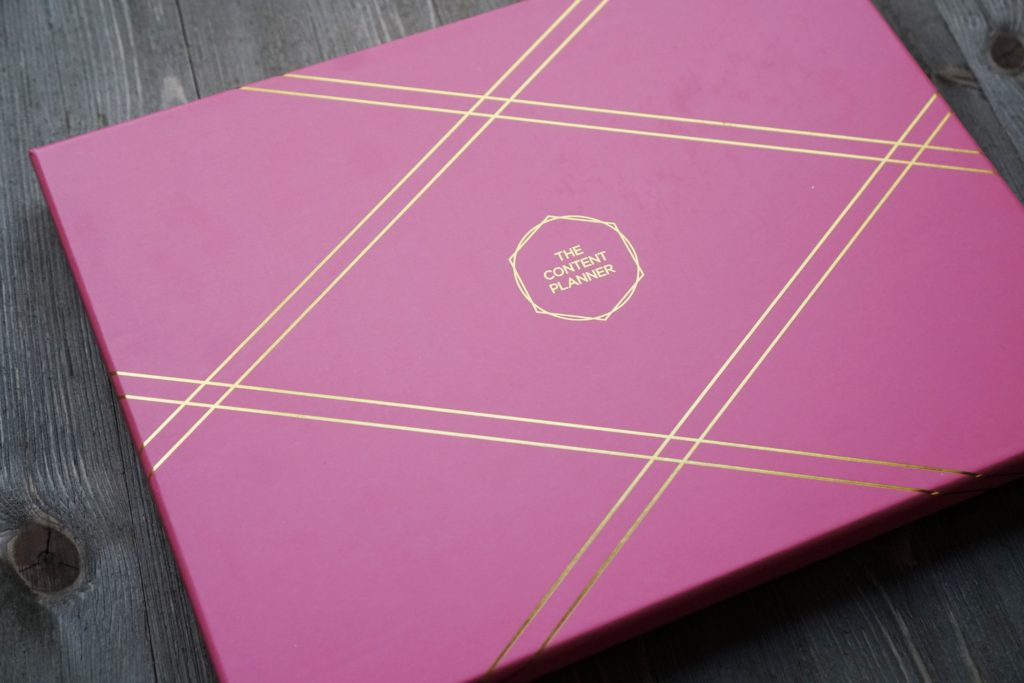 The Content Planner Pink Storage Box