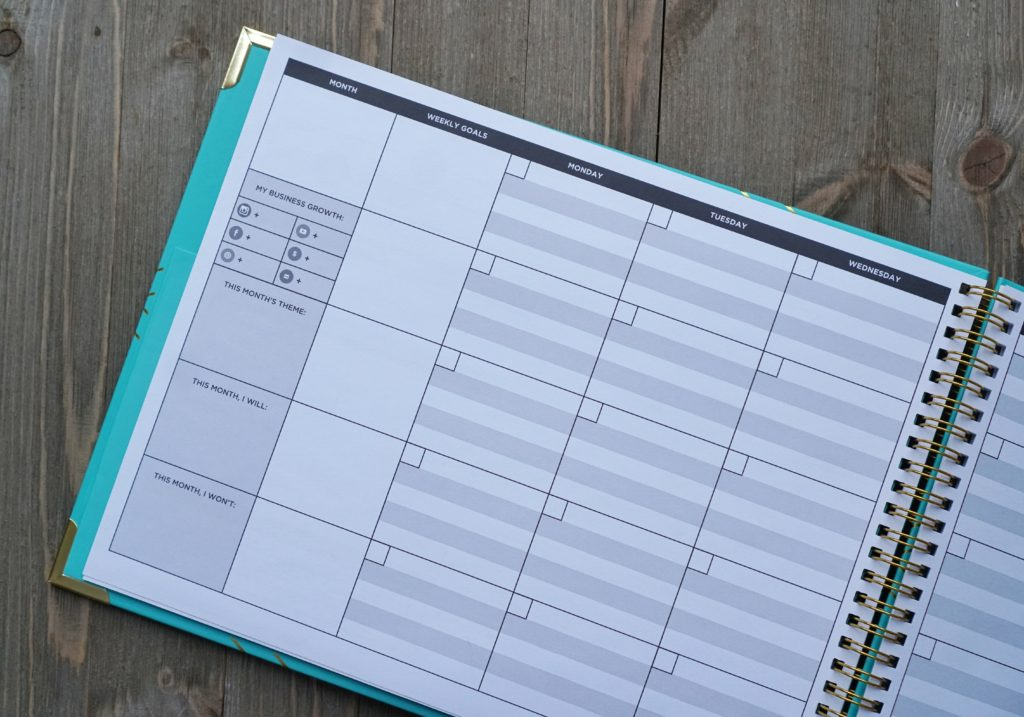the content planner calendar pages