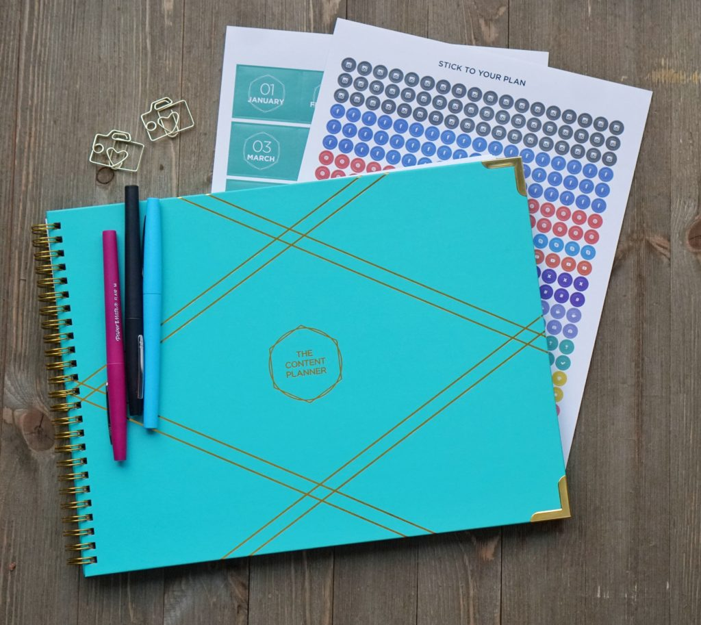 2018 blog planner