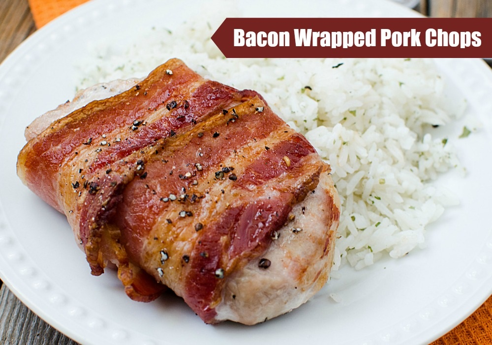 Dancing in the Rain - Bacon-Wrapped-Pork-Chops