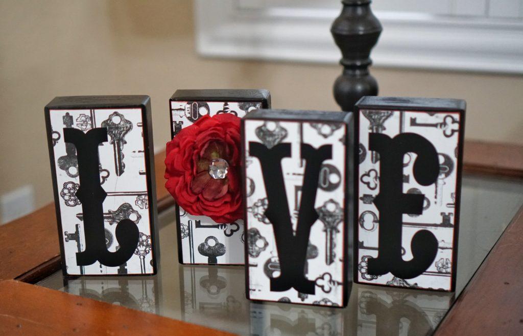 Valentines Day love decor