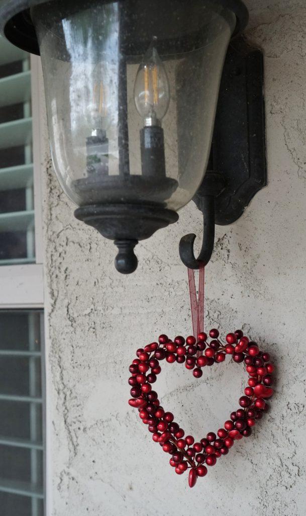 Valentines Day patio decor